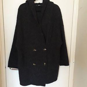 Good condition- Zara Charcoal sweater/coat